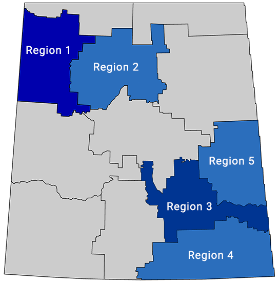 cupe 5430 region map SK