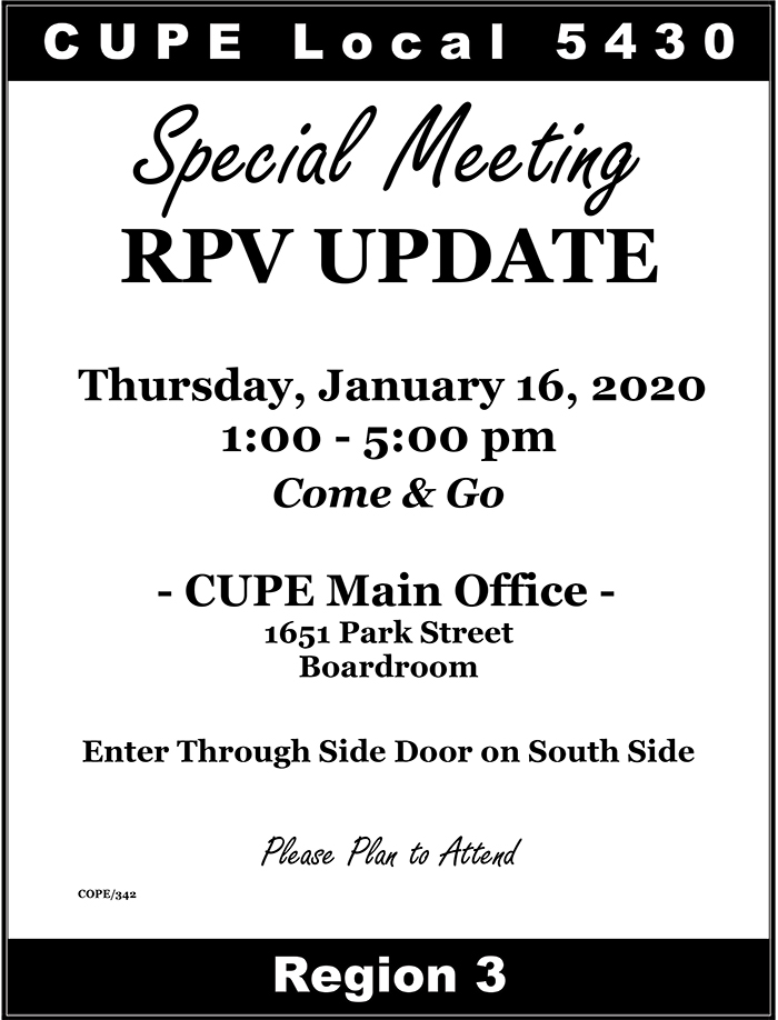 Special RPV Meeting Notice January 16 2020