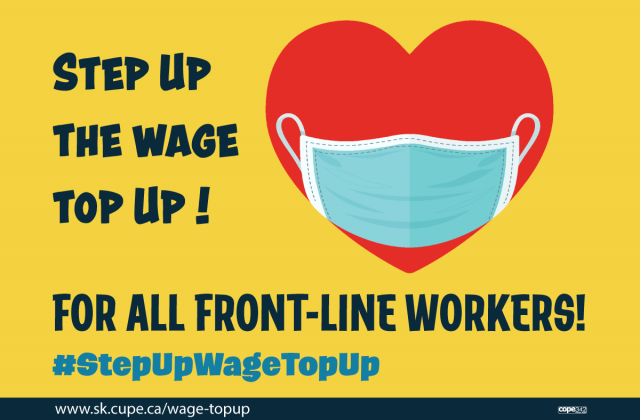 Send a message: Step-up the wage top-up for all front-line workers!